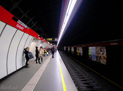 Vanishing Point (Raphael de Kadt) Tags: vienna karlsplatz subway pov perspective line underground station austria