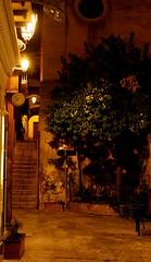 Cefalù (PA) (dona(bluesea)) Tags: night vicolo alley albero tree cefalù sicilia sicily italia italy
