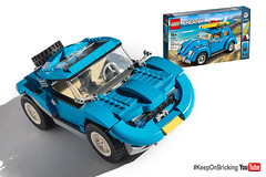 LEGO Creator 10252 alternate BUGGY (KEEP_ON_BRICKING) Tags: lego creator 10252 vw beetle moc alternate remix remake rebrick awesome car vehicle buggy conceptcar keeponbricking afol