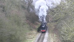 LMS Black Five No.45212 - southbound approaching Darnholm [NYMR] on 29th March 2017 (soberhill) Tags: nymr northyorkshiremoorsrailway 2017 railway train steam locomotive darnholm lms blackfive black5 45212