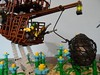 Run 07 (zgrredek) Tags: lego zgrredek balloon flowers pirates monster robbery