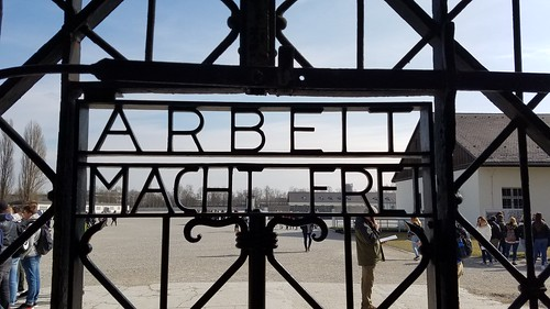 Gate to Dachau Concentration Camp, Munich, Germany