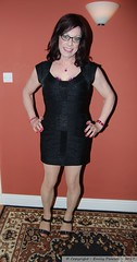 April 2017 - Hull (Girly Emily) Tags: crossdresser cd tv tvchix boytogirl mtf maletofemale tranny trans transvestite transsexual tgirl tgirls convincing dress feminine girly cute pretty sexy transgender xdresser gurl glasses indoor tights hose hosiery minidress wedges highheels
