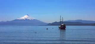 Volcano Osorno from Lake Llanquihue