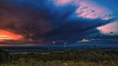 First spring storm over Pic saint Loup (pixtoleros) Tags: ifttt 500px herault éclairs clouds storm lightning montpellier pic saint loup nuages landscape paysage