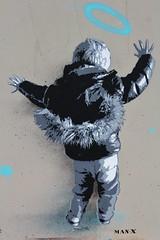 Man-X_4736 boulevard du Général Jean Simon Paris 13 (meuh1246) Tags: streetart paris paris13 boulevarddugénéraljeansimon lelavomatik manx enfant capuche