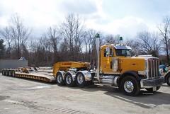 Abbonizio Contractors 2016 Peterbilt 389 tri-axle lowboy tractor - truck No. T-200 (JMK40) Tags: peterbilt 389 cat caterpillar c15 gliderkit abbonizio nj lowboy tractor truck