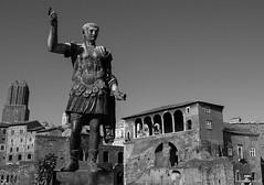 Bronze statue of Roman Emperor Trajan. Imperial Fora.  Rome (Antonella Foti) Tags: traiano roma rome foriimperiali antonellafoti storia