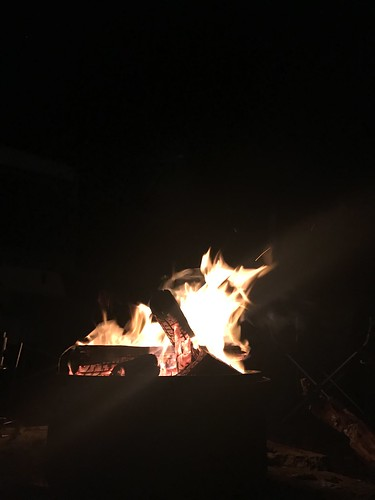 Around the campfire at night
