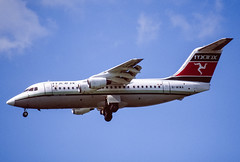 Manx BAe 146-200 (Martyn Cartledge / www.aspphotography.net) Tags: 146 146200 aerodrome aeroplane air aircraft airline airliner airplane airport aspphotography aviation bae cartledge civilairline civilairliner flight fly flying gmima jet man manchester manx manxairlines martyn plane runway transport wwwaspphotographynet uk asp photography