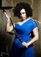 Wonder Women - Samantha Kane (2) (FightGuy Photography) Tags: sword khopesh bluedress badass warriorwoman wonderwoman blade weapon strobist stone