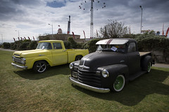 Pick me ups... (Roger.C) Tags: cars pickup american americancars vehicles cool modified lowered low trucks weston westonsupermare seafront cruise carshow show lowrider moody nikon d610 tamron 2470mm sunny westcountry southwest daysout