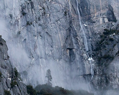 Fog and Runoff, Yosemite National Park (4 Corners Photo) Tags: 4cornersphoto california cold color fog forest geology landscape mariposacounty mist mountains northamerica outdoor rock rural scenery sierranevada snow storm tree unitedstates waterfall weather winter yosemitenationalpark
