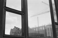 (maiandtheskies) Tags: window reflection winter bw nikonfe2 film helsinki