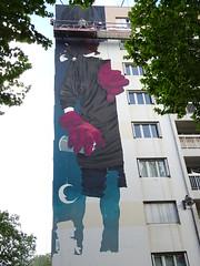 Bom K : création en cours (26 avril 2017) (Archi & Philou) Tags: streetart murpeint paintedwall workinprogress wip travailencours paris13 bomk nacelle