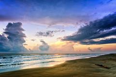 Purple Morning Sky in Galveston (Adam Kyle Jackson) Tags: houston texas galveston gulfofmexico gulfcoast coastline beaches sunrise morning dawn waves thunderstorm storm clouds