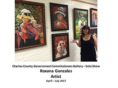 """Charles County Government Commissioners Gallery - Solo Show - April to July 2017 - Roxana Gonzales, Artist • <a style=""""font-size:0.8em;"""" href=""""https://www.flickr.com/photos/124378531@N04/34305639275/"""" target=""""_blank"""">View on Flickr</a>"""