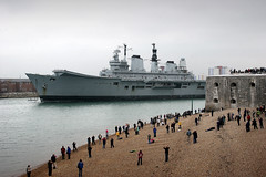 IMG_0499 - HMS Ark Royal - Portsmouth - 20.05.13 (Colin D Lee) Tags: tower turkey waterfront harbour aircraft royal farewell round portsmouth scrapyard breakers ark carrier turkish sendoff rn hms dockyard towed decommissioned royalnavy scrapped