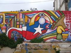 Contemporary Mapuche Protest Mural (andrewireland92) Tags: chile streetart art southamerica students graffiti mural viña flag protest demand viñadelmar chilean mapuche educación gratuita