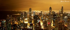 Bird's eyeview.. (Abhinav Ratan) Tags: chicago birds night landscape eyeview chicagodowntown