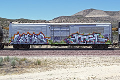 LEVISJIGL (KNOWLEDGE IS KING_) Tags: railroad art yard train bench graffiti paint wheels tracks railway rails railfan freight benched