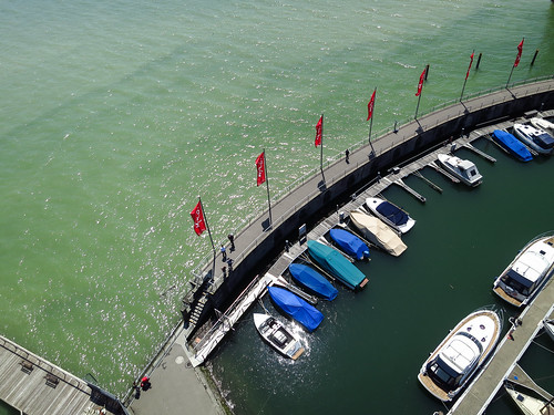 Kite Above Lindau Germany and  Lake Constance