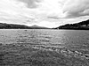 Bala Lake (166/365) (diedintragedy) Tags: trees blackandwhite mountain lake water wales clouds forest boats boating hdr bala openwater northwales balalake porject365