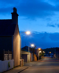 Streetlights (The Flying Monk) Tags: streetlights westernisles nightstreet isleoflewis stornoway outerhebrides sodiumvapour scotnd