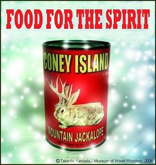 Food for the Spirit, Coney Island Brand Exotic Canned Food, color poster, MMVI