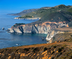 BigSur07 (Utah Images - Douglas Pulsipher) Tags: ocean california sunset sea beach coast rocks waves seascapes cove tide bigsur rocky cliffs pacificocean craggy shore beaches inlet coastline remote lonely breakers seashore isolated rugged coves steep bigsurcoast inlets