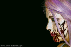 (Edwin Hallows Blaque) Tags: blood nikon bloody nikkor horrormovie pinkhair purplehair lavenderhair edwinhallowsblaque brandeenicoleashes