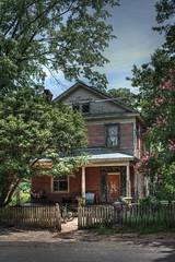 Elm Street (Brent Betz) Tags: old trees light summer sky sun house hot peeling paint north neglected dream shade porch heat augusta