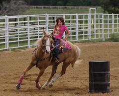 Liberty Hill Barrel Race (Garagewerks) Tags: horse sport race america outdoors cowboy texas sony country barrel sp american di cowgirl hillcountry 70300mm tamron vc usd libertyhill barrelracing barrelrace f456 a65