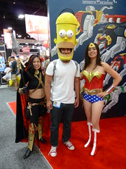 Wonder Woman with Magdalena & Homer Simpson (Cutterin) Tags: woman wonder dc san comic cosplay diego wonderwoman comiccon con magdalena homersimpson sdcc 2013 dalemortonstudio sdcc2013 sandiegocomiccon2013 cutterin
