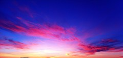 Colors of the sky (sssaaraa) Tags: pink blue sunset sky orange cloud night clouds colorful purple lovelyclouds