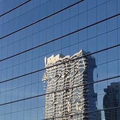 Organized Chaos (michael.veltman) Tags: chicago reflection building glass wall facade illinois random curtain mullion