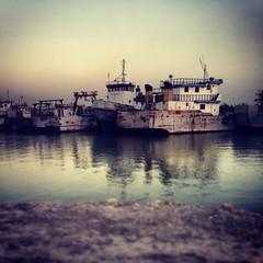 Boats on the Shatt Al-Arab, Iraq