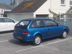 Suzuki Swift GLS (occama) Tags: 2001 old uk blue car cornwall showroom excellent swift suzuki gls condition y664aaf