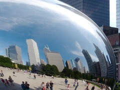 The Bean (romanboed) Tags: park city travel summer sculpture usa chicago reflection art illinois stainlesssteel downtown skyscrapers millennium cloudgate thebean anishkapoor