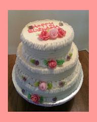 Rose Cake by Regina, Albuquerque, NM, www.birthdaycakes4free.com