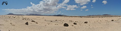 (Acaymo Santana) Tags: blue sea summer sky mountain beach azul relax island mar wolf paradise desert fuerteventura playa panoramic arena cielo panoramica desierto canary montaña lobos isla paraiso