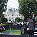 President Barrack Obama attends a memorial service at the Marine Barracks,