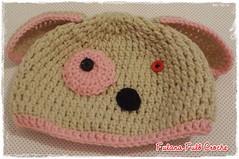 Touca de croche cachorrinha (Ateli Fulana Ful) Tags: flickr infantil criana trico croche toucadecroche fulanafulocroche toucasdecroche toucasdetrico toucadetrico