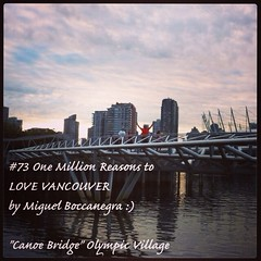 | no.73 | | Canoe Bridge | (onemillionreasonstolovevancouver) Tags: world city people tourism home promotion architecture vancouver cool realestate profile today olympicvillage l4l vancity downtownvancouver metrovancouver onemillion canoebridge cityofvancouver vancouverite vancouvercity vancouvertourism vancouverrealestate vanone awesomevancouver instaphoto instagood instafollow uploaded:by=flickrmobile flickriosapp:filter=nofilter miguelboccanegra thegreatervancouverarea vanpublicart