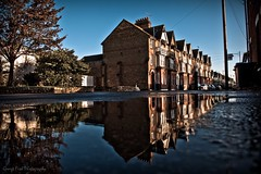 Whitstapuddle (Georgio's Photography) Tags: reflection water reflections landscape puddle kent terrace victorian double whitstable
