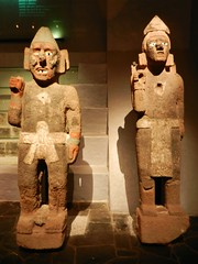 Stone Statues (Travis S.) Tags: statue stone museum mexico holding mexicocity df hand carving museo loincloth templomayor distritofederal