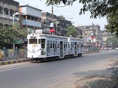 Calcutta 270 Gariahat Road (Guy Arab UF) Tags: road park circus tram company burn standard articulated calcutta 270 tramways gariahat