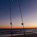 https://www.twin-loc.fr  Cap Ferret - Arcachon - Océan Atlantique - Picture Image Photography - Moon and sunset - Lune et coucher de soleil - Pécheur fisherman