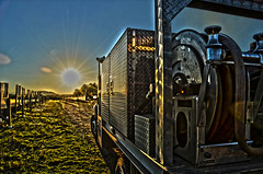 (Veronica_M_Photography) Tags: sun color reflection truck mississippi fire hose hdr watertruck fireequipment campmccain veronicamphotography