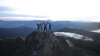 Hikers at Pilot Rock